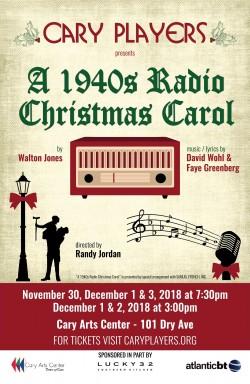 A 1940s Radio Christmas Carol Shows Cary Players Cary Nc