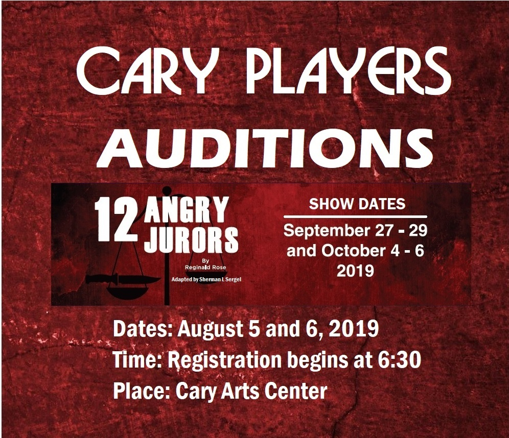 Auditions | Cary Players | Cary, NC | Community Theatre Company